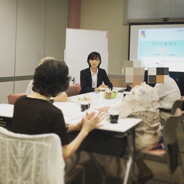 ほけん勉強会②介護編 開催しています。健康寿命って聞いたことありますか? 日本の介護保険制度を理解した上で、足りない場合どうするのか、元気なうちに考えましょう。様々な意見が出だしから飛び交っています。#郡中ビルディング #不動産の郡中 #ほけん勉強会 #介護保険制度 #ディスカッション多め