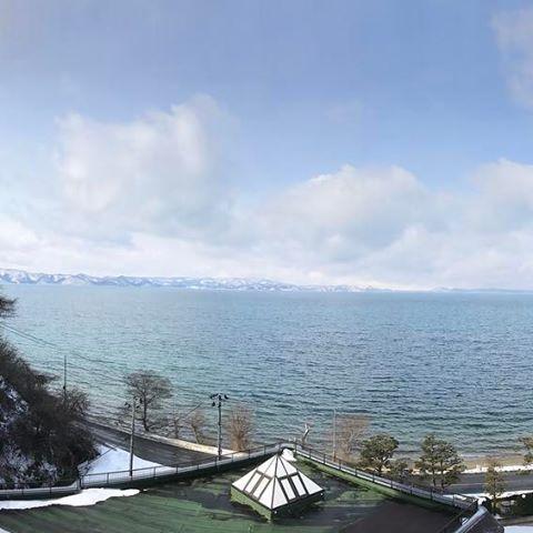 #冬 の#猪苗代湖#レイク #ビュー#福島 #郡山市#猪苗代 #マンション #balcony #バルコニー #ベランダ #view #location #local #vision #vista #scene #パノラマ #panoramic #panorama #lake #lakers #like4like #Japan#japan_daytime_view